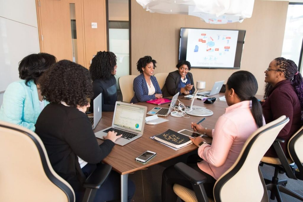 meeting help by people who are black-Owned Business owners